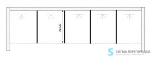 Душевые Перегородки 16мм из сэндвич-панель – 5 кабин